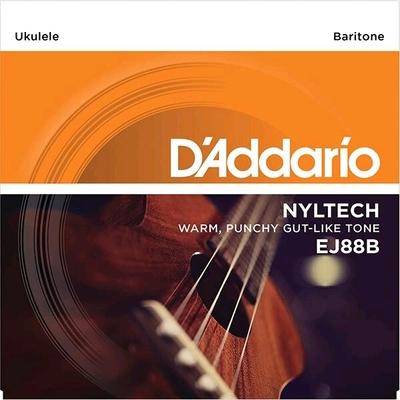 D'Addario Jeu Ukulélé Baritone »Nyltech» (Aquila) E B G D .026/.036/.024w/.030w Natural Nylon