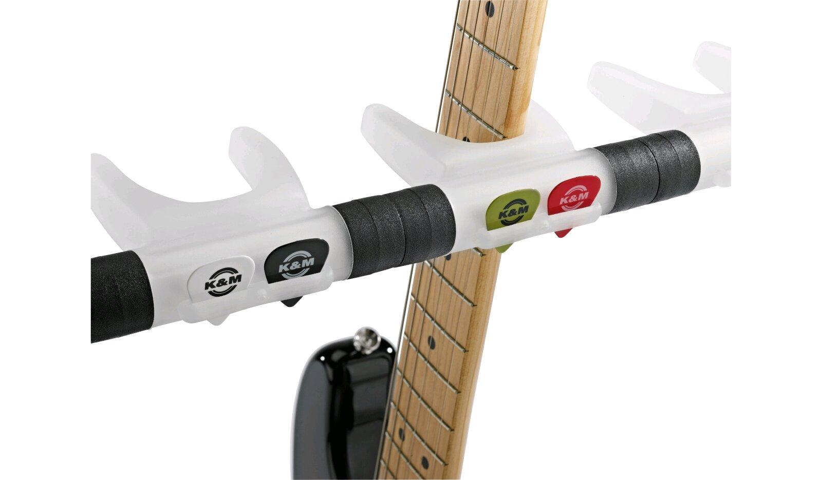 K & M 17525 – e-guitar stand Guardian 5 – Translucide : photo 4