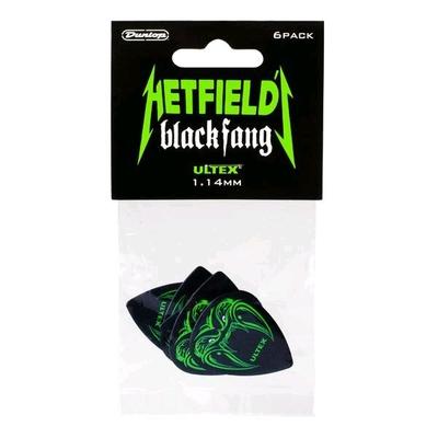 Dunlop Picks HETFIELD'S Black Fang 1.14mm Player's Pack of 6