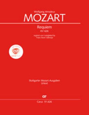 Requiem KV 626 de Mozart Choral/Score  / Wolfgang Amadeus Mozart / Ulrich Leisinger / Carus