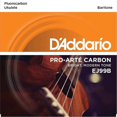 D'Addario Set Ukulele Baritone, »Pro-Arté Carbon», .0244 – .035 Fluorocarbon / 4th Silver Wound