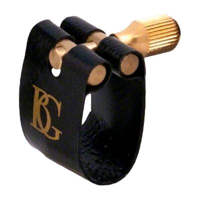 BG Ligature et protège-bec »Flex» pour sax soprano – ligature Fabric