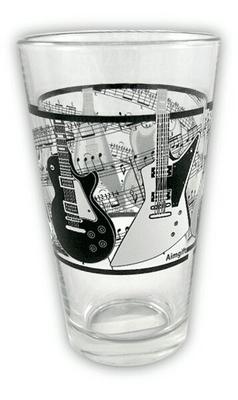 Music Sales Glass Tumbler – Electric Guitars/Music