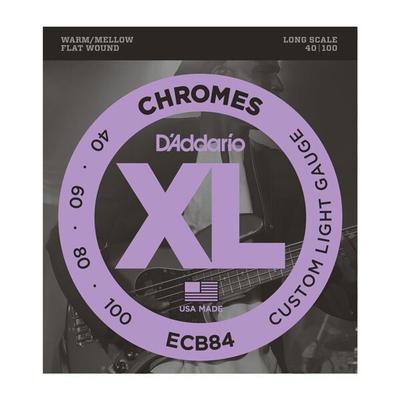 D'Addario ECB84 EI.bass 040-.100 chrome polished flat W
