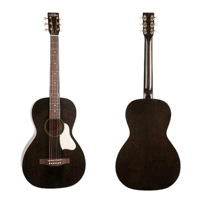 Art & Lutherie Parlor Roadhouse Faded Black with E/A & Gig Bag