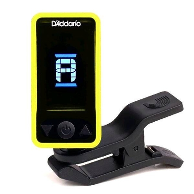 D'Addario PW-CT-17YL Eclipse Chromatic Clip-On Tuner, Yellow