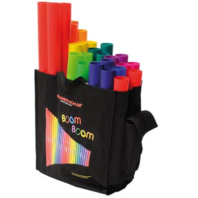 Boomwhackers Basic School Set 28 Röhren Octavator Caps und Tasche im Set