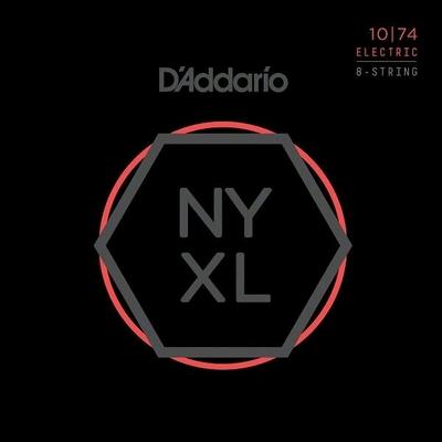 D'Addario El. 8-String »New York XL» Nickel Round Wound .010-.074 Light Top / Heavy Bottom