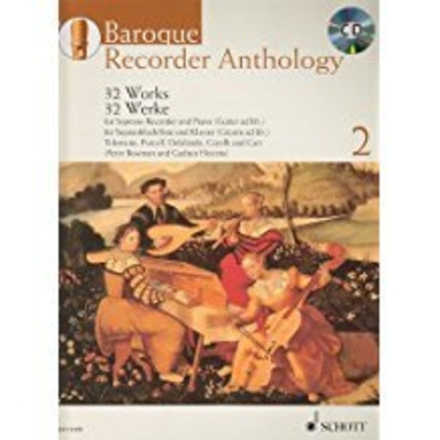 Baroque Recorder Anthology vol 2 avec CD 32 pièces pour flûte à bec soprano et piano /  / Schott