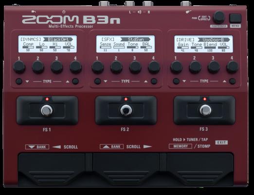 Zoom B3n bass fx