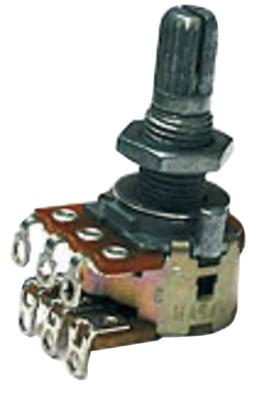 Partsland Potentiomètreélement balance petit boitier axe denté – AC 2×500 kOhm