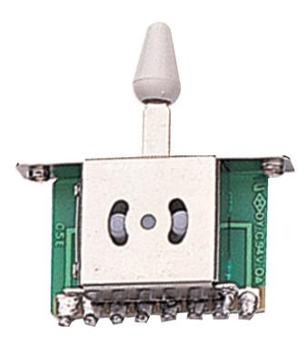 Partsland Interrupteur 3 positions – bouton blanc