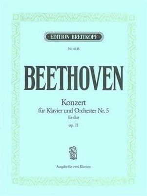 Concerto N5 en Mib opus 73pour piano et orchestre, réduction pour deux pianos / Ludwig van Beethoven Eugen d' Albert / Breitkopf