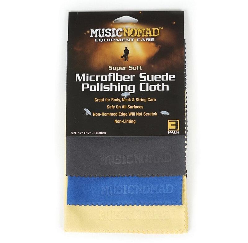 Music Nomad Super Soft Microfibre Suede P. Cloth – Pack de 3 : photo 1