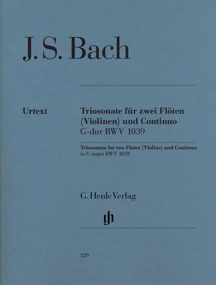 Trio pour 2 flûtes et piano en Sol majeur BWV 1039 / Johann Sebastian Bach / Henle Verlag