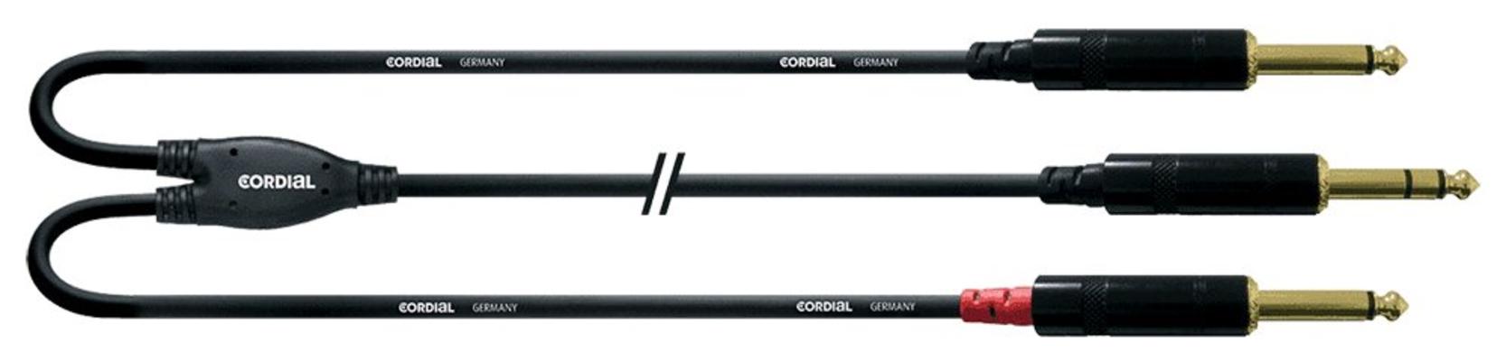 Cordial CFY 0.9 VPP Jack stereo 6.3mm  2x Jack mono 6.3mm 0.9m