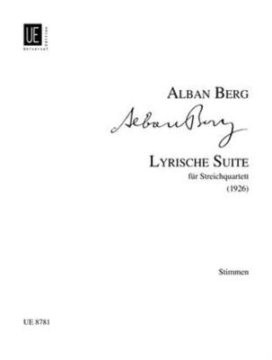 Lyrische Suite  Alban Berg  Streichquartett Stimmen-Set  UE 8781 / Alban Berg / Universal Edition