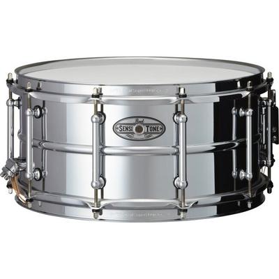 Pearl TB-65 W/SR-150 14 x 6.5 SensiTone Steel Snare Drum