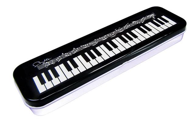 Music Sales Tin Pencil Case Keyboard Design      Schreibmaterial  WEIOP190B
