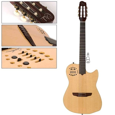 Godin MultiAc Nylon String – Synth Access – 2 Voice Natural HG with Bag