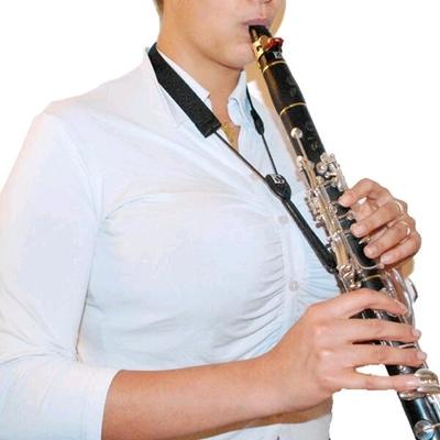 BG Cordon pour clarinette Sib – »FLEX» élastique – avec 2 attaches en cuir