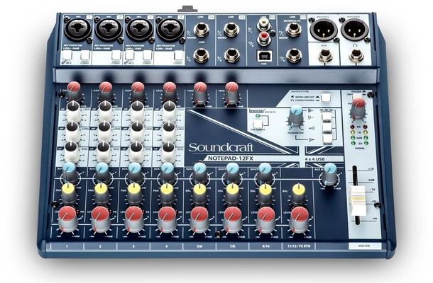 Soundcraft Notepad 12FX Analog Mixer, USB I/O