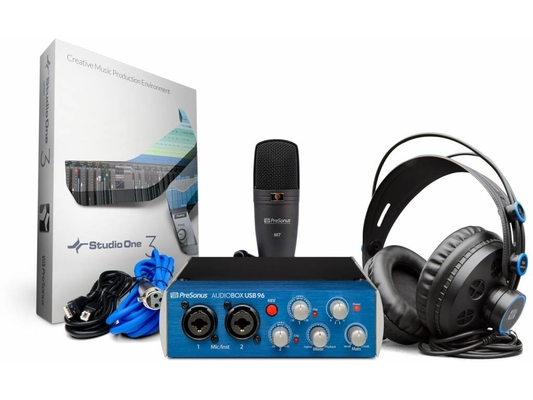 Presonus AudioBox 96 Studio Bundle USB Avec Microphone M7 Casque HD7 Et Câbles