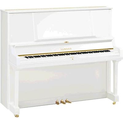 Yamaha Pianos Silent YUS5 SH2 PWH Silent, Blanc poli-brillant, 131 cm