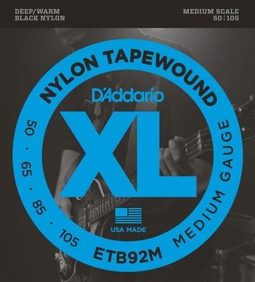 D'Addario ETB92M 050-.105 Black Nylon Tapewound Medium Scale