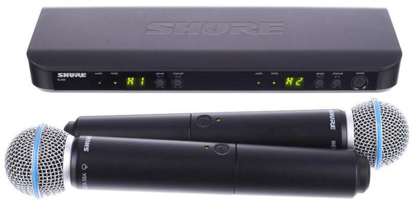 Shure BLX288E/B58-M17 Beta Wireless Analog, combo, Beta58