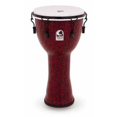 Toca TF2DM-14RMB Freestyle II Mechanically Tuned Djembe14 Inch Red Mask + Bag