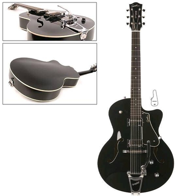 Godin 5th Avenue Uptown Black GT with Bigsby & Tric Case