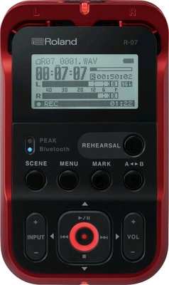 Roland R-07 (RD) Portable Audio Recorder Red