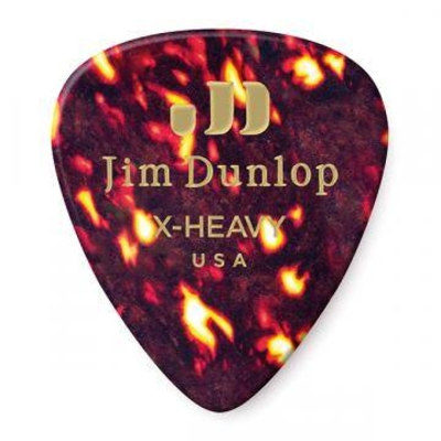 Dunlop Picks Genuine Celluloid Classic Shell Extra Heavy Player's Pack of 12 Picks