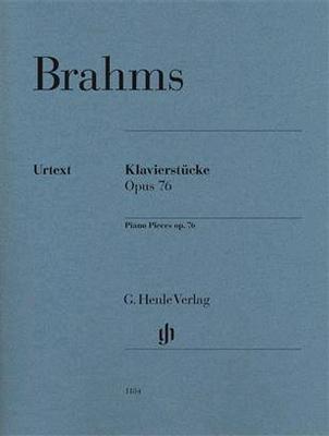 Brahms Op.76 8 Klavierstücke / Brahms Johannes / Henle Verlag