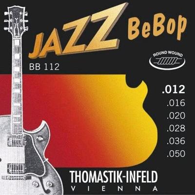 Thomastik El. Set Jazz BeBop .012-.050 Plain Steel Round Wound Light