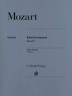 Henle Urtext Editions / Sonates pour piano volume I Mozart Klaviersonaten Band 1 Piano Sonatas – Volume 1 Piano Sonatas, Volume I HN 1 / Wolfgang Amadeus Mozart / Henle Verlag