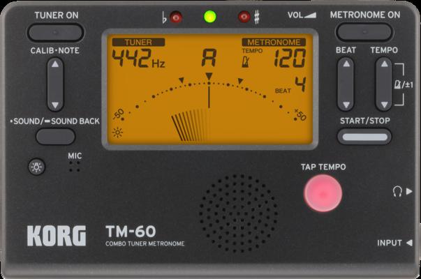Korg TM-60 Tuner / Metronome Noir