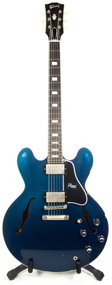 Gibson Custom Shop ES 335 Block Heavy Aged Candy Apple Blue