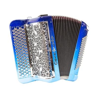 Cavagnolo Digit Millenium LB9+ Bleu Dégradé Pailleté Grille Chromée Vignette Chromée Bouton Goutte D'eau Non Cerclés Mécanique 2×4 Avec Coffre