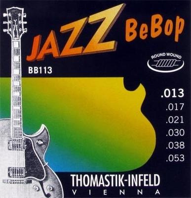 Thomastik El. Set Jazz BeBop .013-.053 Plain Steel Round Wound Medium Light