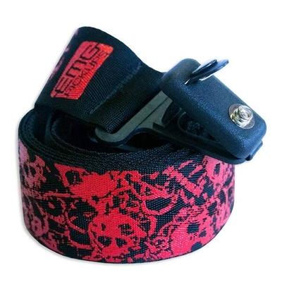 EMG Sangle en nylon 50mm EMG Custom Design Silkscreen avec straplocks Red Skull