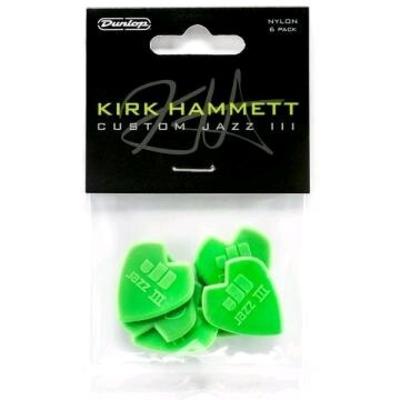 Dunlop KIRK HAMMET Signature Jazz III Player's Pack avec 6 plectres 47PKH3N