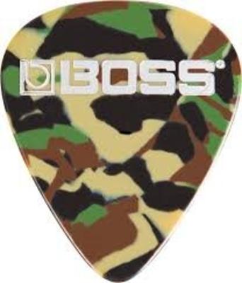 Boss BPK-12-CT celluloid pick thin camo 12 pa