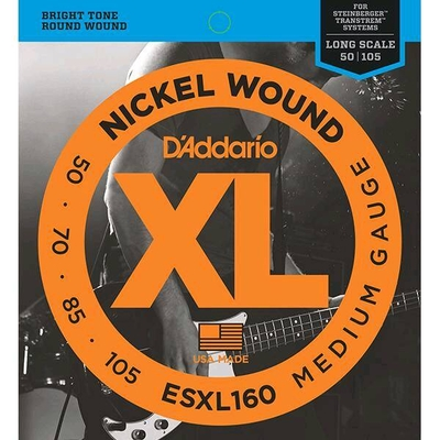D'Addario ESXL160 Steinberger Ni. Round W. Reg. Long Sc.