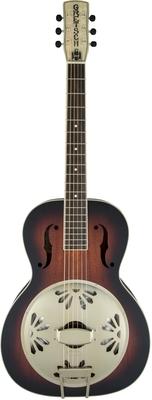 Gretsch G9241 Alligator Biscuit Round-Neck Resonator Guitar with Fishman Nashville Pickup, 2-Color Sunburst