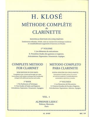 Méthode de clarinette vol. 1 / Klosé Hyacinthe / Leduc