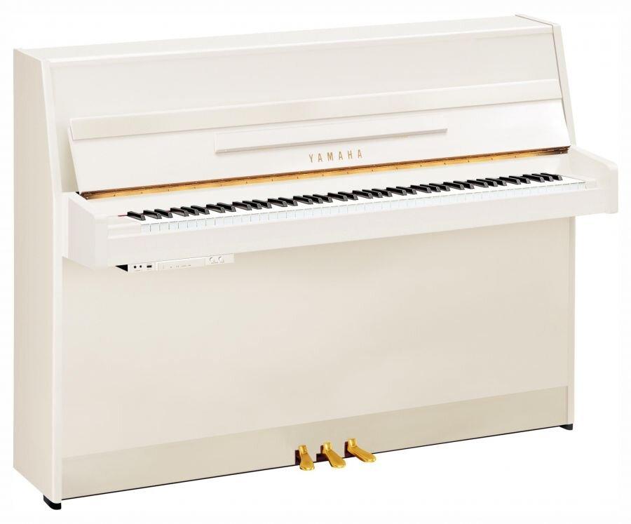 Yamaha Pianos Silent B1 SC2 PWH Silent blanc poli-brillant 109 cm : photo 1