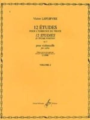 12 études pour l'exercice du pouce, op. 2, vol. 2 / Lefebvre Victor / Billaudot