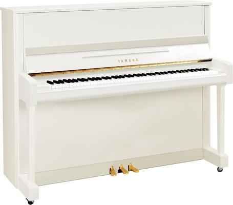 Yamaha Pianos Silent B3 SC2 PWH Silent, blanc poli-brillant, 121 cm